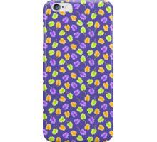 Green Orange Leaves Pattern iPhone Case/Skin