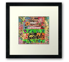 Beauty Blossoms From Within Framed Print