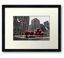 A Christmas Card from New York City - Fifth Avenue Sophistication Framed Print