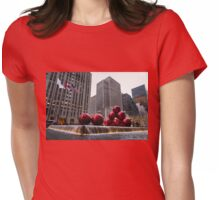 A Christmas Card from New York City - Fifth Avenue Sophistication Womens Fitted T-Shirt