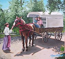 Delivery wagon at Upper Canada Village by Dan Wilcox