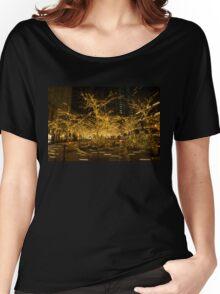 A Little Golden Garden in the Heart of Manhattan, New York City  Women's Relaxed Fit T-Shirt