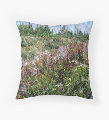 Cape Breton Flowers Throw Pillow