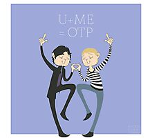U+ME=OTP JOHNLOCK Photographic Print