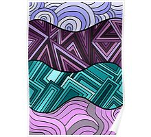 Lines of Shapes and Color Poster