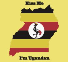 Kiss Me I'm Ugandan Kids Tee