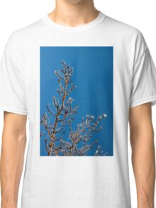 Mother Nature's Christmas Decorations - Gleaming Icy Baubles in Blue Classic T-Shirt
