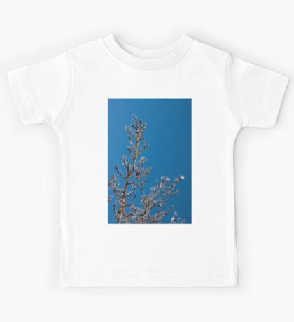 Mother Nature Christmas Decorations - Gleaming Icy Baubles in Blue Kids Tee