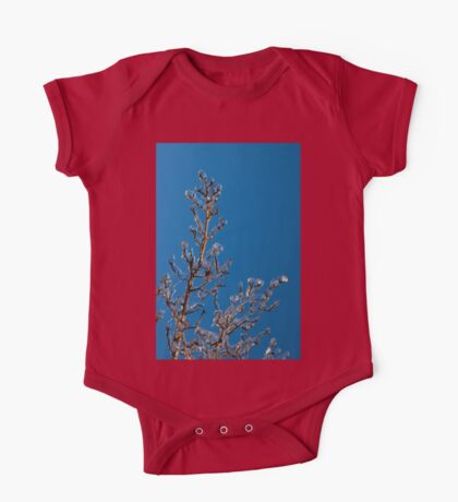 Mother Nature Christmas Decorations - Gleaming Icy Baubles in Blue One Piece - Short Sleeve