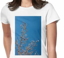 Mother Nature's Christmas Decorations - Gleaming Icy Baubles in Blue Womens Fitted T-Shirt