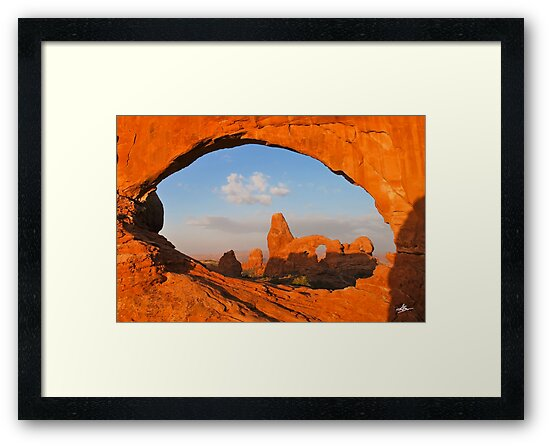 Turret Arch through the North Window, Arches National Park by Gregory Ballos | gregoryballosphoto.com