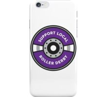 Support Local Roller Derby – Purple/Gray iPhone Case/Skin