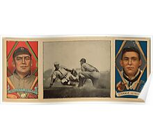 Benjamin K Edwards Collection Edgar Willett Oscar Stanage Detroit Tigers baseball card portrait Poster