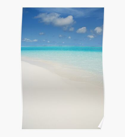 Maldives beach Poster