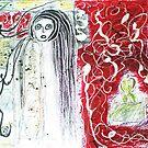 Spirit Visits Art Gallery by Carol Berliner