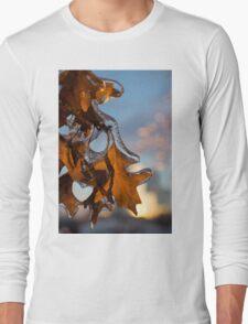 Sparkling Oak Leaf Jewels Long Sleeve T-Shirt
