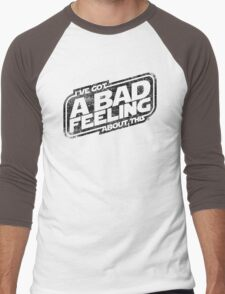 That Same Old Feeling (White on Black) Men's Baseball ¾ T-Shirt