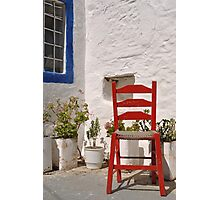 Greek chair Photographic Print