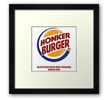 Honker Burger Framed Print