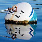 Buoy in Blue by tom j deters