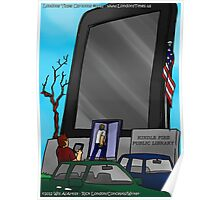 Kindle Public Library by Londons Times Cartoons Poster