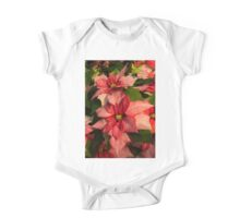Exotic Speckled Poinsettia Blossoms - Christmas from the Tropics  One Piece - Short Sleeve