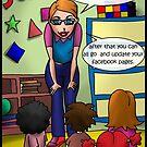 Facebook Kindergarten Class by Londons Times Cartoons by Rick  London