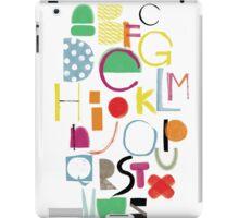 Cut&Paint Alphabet iPad Case/Skin
