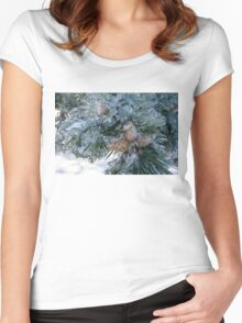 Mother Nature's Christmas Decorations - Pine Cones Women's Fitted Scoop T-Shirt