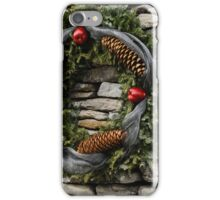 Christmas Cheer with Silver and Stones iPhone Case/Skin