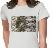 Christmas Cheer with Silver and Stones Womens Fitted T-Shirt