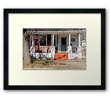 Patriotic little house2 Framed Print