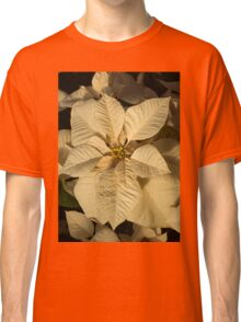 Radiant Cream Poinsettia - Exotic Christmas Greeting Classic T-Shirt