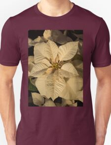 Radiant Cream Poinsettia - Exotic Christmas Greeting Unisex T-Shirt