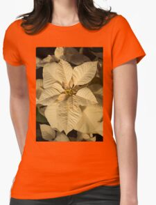 Radiant Cream Poinsettia - Exotic Christmas Greeting T-Shirt