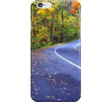 Autumn Drive On The Pig Trail iPhone Case/Skin