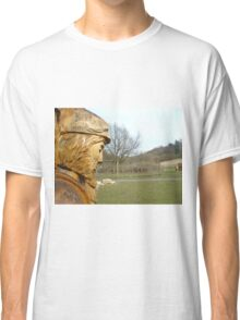Carved man at Dalby Forest Classic T-Shirt