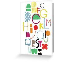 Cut&Paint Alphabet Greeting Card