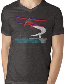 Biplane Mens V-Neck T-Shirt