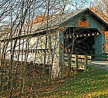 Doyle Road Covered Bridge by Geno Rugh