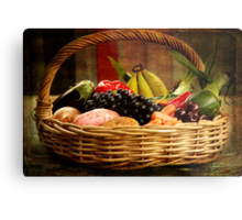 I went to the market and there I bought.... Metal Print