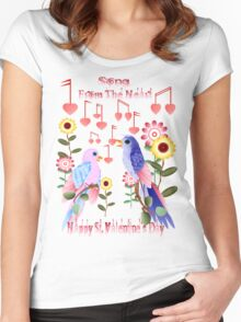 Love Notes From The Heart Women's Fitted Scoop T-Shirt