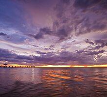 Stormy Sunset - Brighton Beach SA by AllshotsImaging