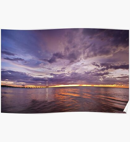 Stormy Sunset - Brighton Beach SA Poster
