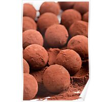 Chocolate truffles with cocoa powder  Poster