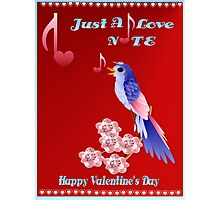 Blue Bird and Love Notes-lettered Photographic Print
