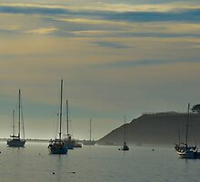Resting Sailboats in Still Waters by HanieBCreations