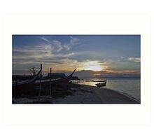 Borneo Sunset Art Print
