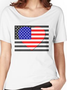 United States Flag T-shirt Women's Relaxed Fit T-Shirt