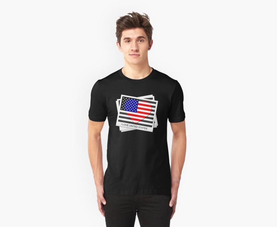 United States Flag T-shirt by Nhan Ngo